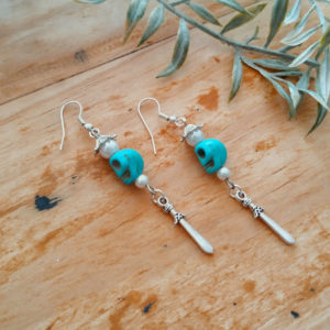 Skull Dagger Earrings