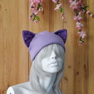 Purple Skull Candy Cat Beanie